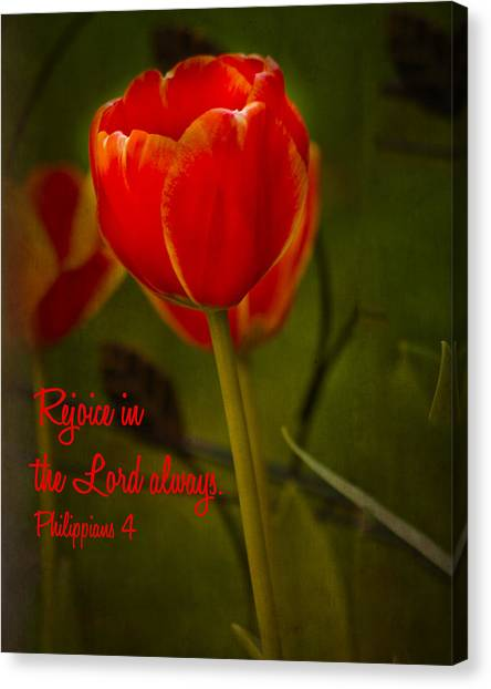 Rejoice In The Lord Canvas Print