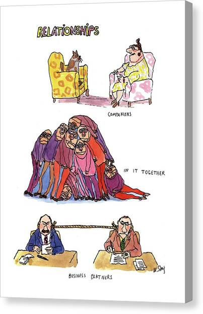 Rope Canvas Print - Relationships by William Steig
