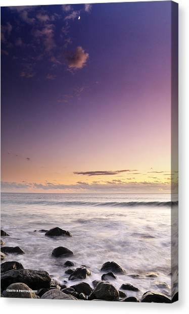 Relax And Moon Canvas Print by Cristo Bolanos