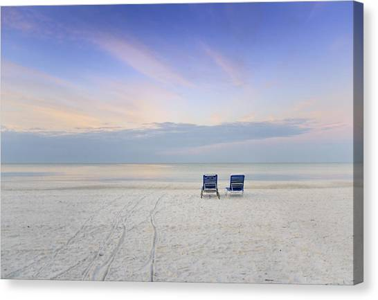 Sunrise Horizon Canvas Print - Relax by Vicki Jauron