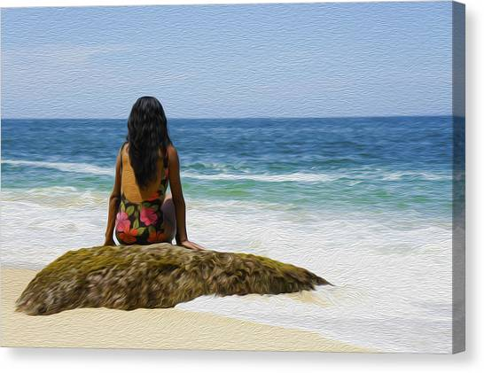 Bikini Canvas Print - Relaxing by Aged Pixel
