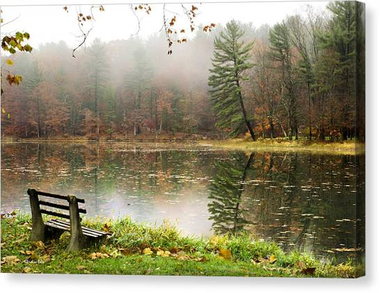 Canvas Print featuring the photograph Relaxing Autumn Beauty Landscape by Christina Rollo
