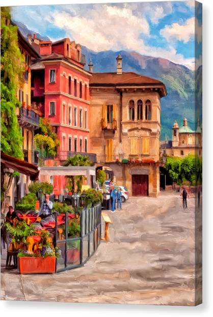 Relaxing In Baveno Canvas Print