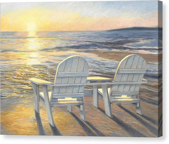 Relaxing Sunset Canvas Print