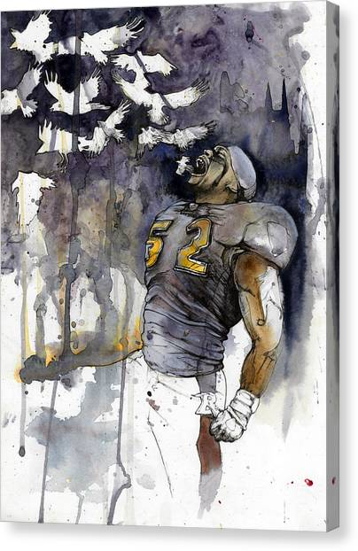 Linebackers Canvas Print - Release The Ravens by Michael  Pattison