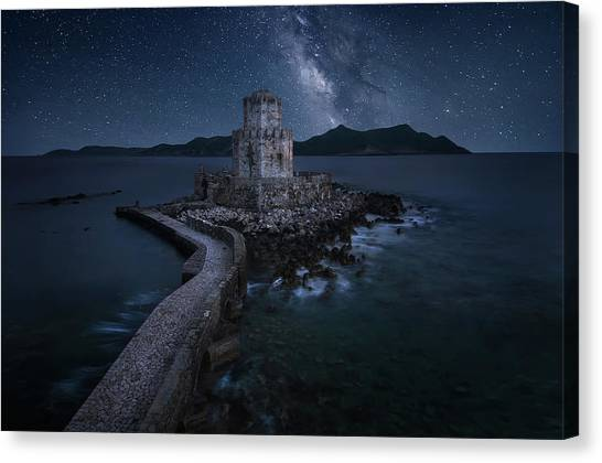 Castle Canvas Print - Remains Of The Past by