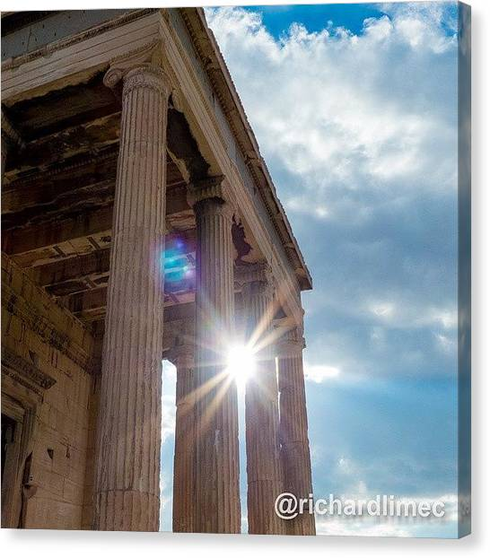 The Acropolis Canvas Print - Remains Of Yesteryear. #erechtheum by Richard Lim