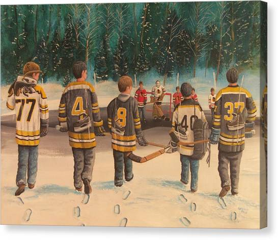 Boston Bruins Canvas Print - Rematch - Stanley Cup 2013 by Ron  Genest