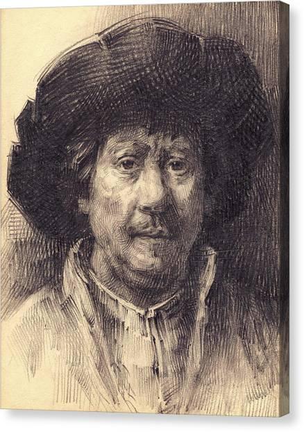Rembrandt Portrait2 Canvas Print