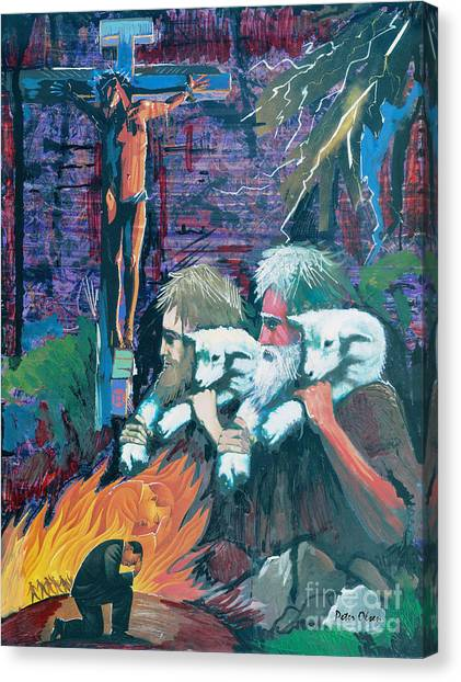 Remember The Shepherd Canvas Print by Peter Olsen