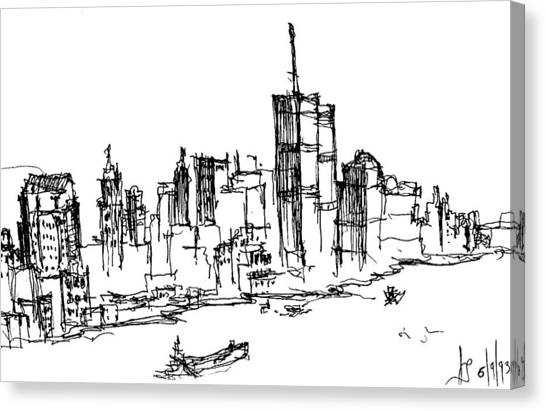 Remember World Trade Center Canvas Print