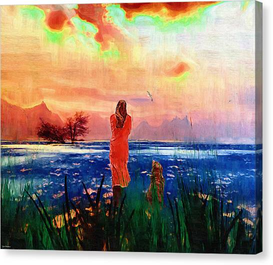 Remembering A Past Farewell. Canvas Print