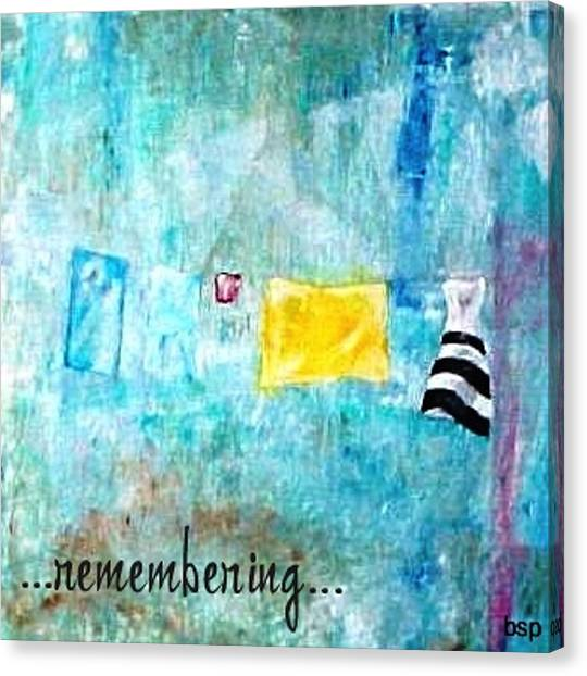 Remembering Canvas Print by Robert Stagemyer