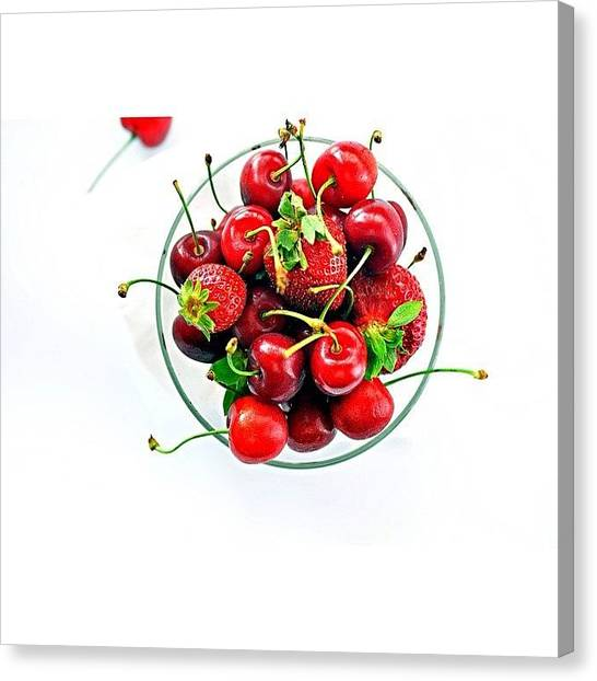 Strawberries Canvas Print - Remembering The Summer by Walter Bisoffi