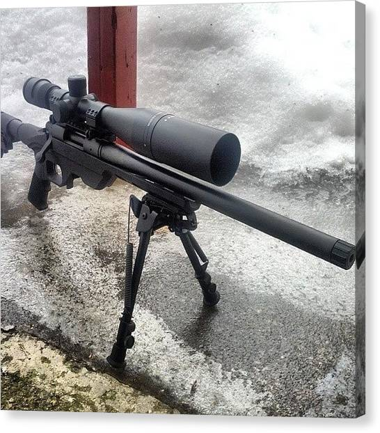 Rifles Canvas Print - #remington700 #mdtchassis #vortex by . .