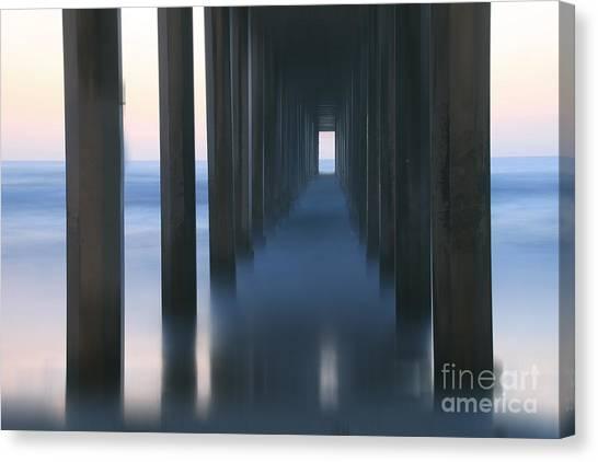 Scripps Pier Canvas Print - Reminisce by Marco Crupi