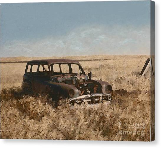 Remnants Of Lives Past Canvas Print
