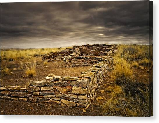 Remnants Of Long Ago Canvas Print by Medicine Tree Studios