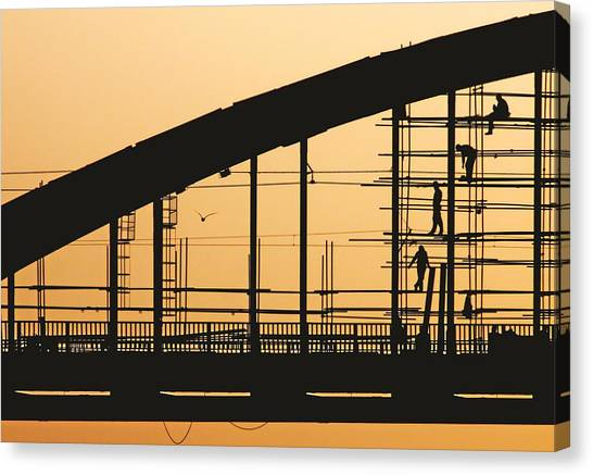 Construction Canvas Print - Remont by Vladimir Off Zivancevic