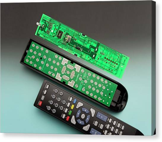 Keypad Canvas Print - Remote Control Printed Circuit Board by Sheila Terry