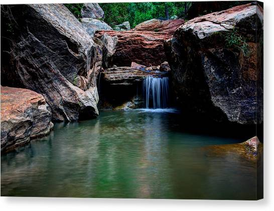 Red Rock Canvas Print - Remote Falls by Chad Dutson