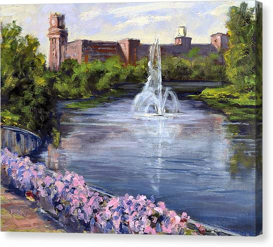 Renaissance Fountain Canvas Print
