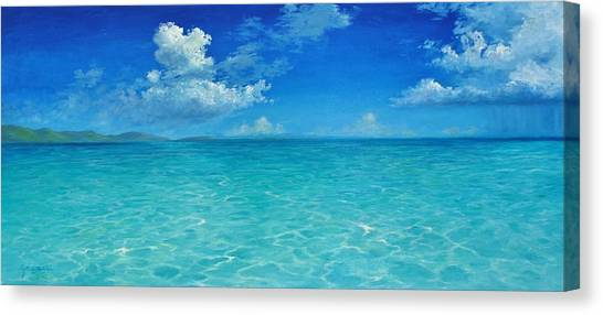 Rendezvous Bay Shower  Canvas Print
