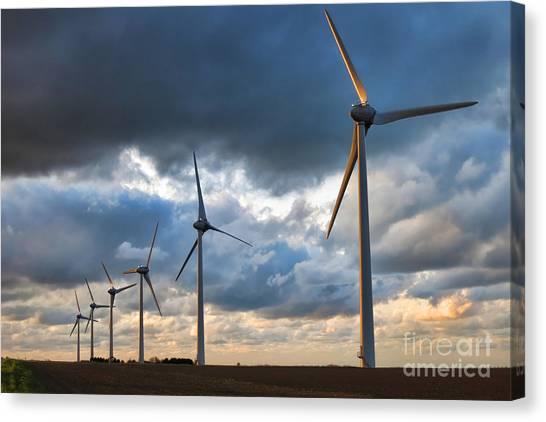 Clean Energy Canvas Print - Renewable Energy by Olivier Le Queinec