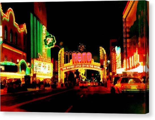 Reno At Night Canvas Print