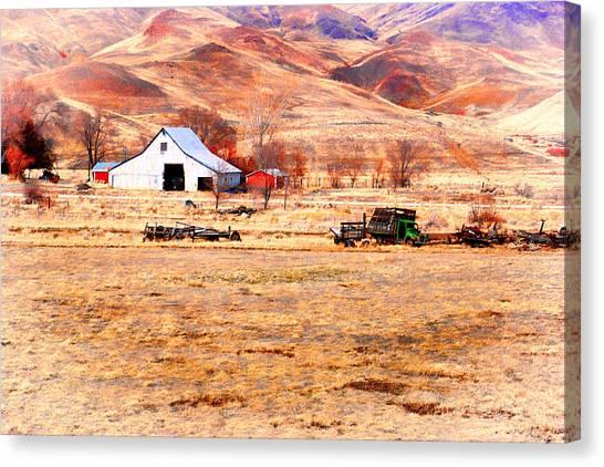 Reno Hillside Barn Canvas Print