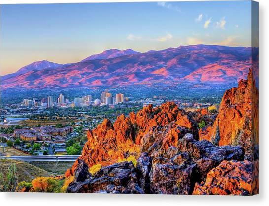 Reno Nevada Sunrise Canvas Print