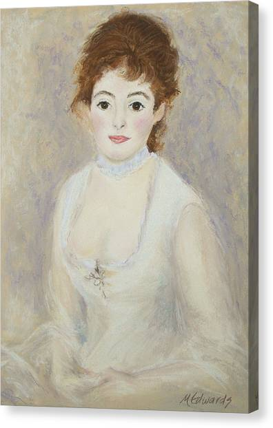 Renoir's Lady Canvas Print