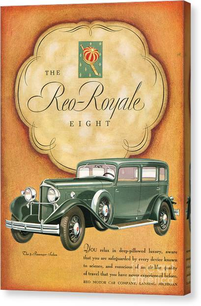 Reo Royale 1931 1930s Usa Cc Cars Canvas Print by The Advertising Archives