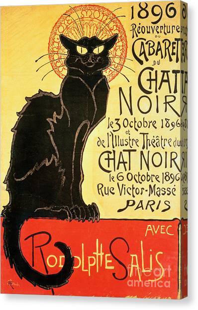 Cat Canvas Print - Reopening Of The Chat Noir Cabaret by Theophile Alexandre Steinlen