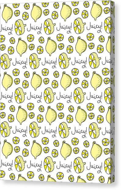 Fruit Canvas Print - Repeat Prtin - Juicy Lemon by MGL Meiklejohn Graphics Licensing