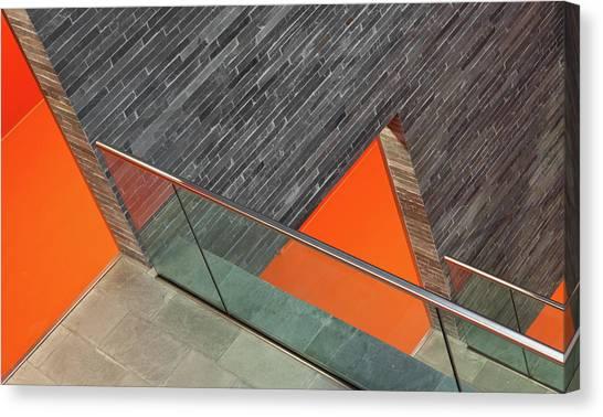 Museums Canvas Print - Repeat The Orange by Jeroen Van De