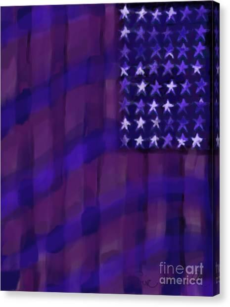 Jasper Johns Canvas Print - Repersentational Flag 3 by Eric  Schiabor