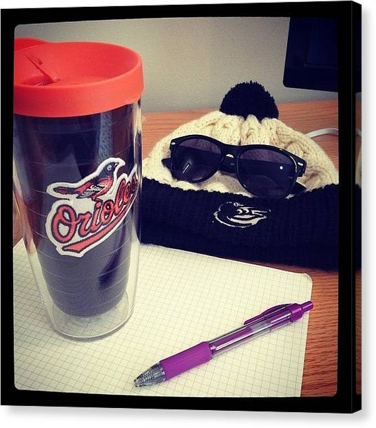 Baltimore Orioles Canvas Print - Reppin' B-more Hard Today At My by Mims Katy
