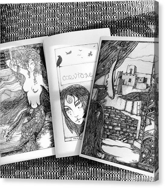Mermaids Canvas Print - Reprints Of Classic Megan Noel Zines - by Megan Smith