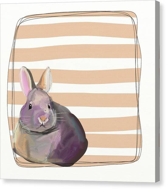 Baby Canvas Print - Rescued Bunny by Cathy Walters