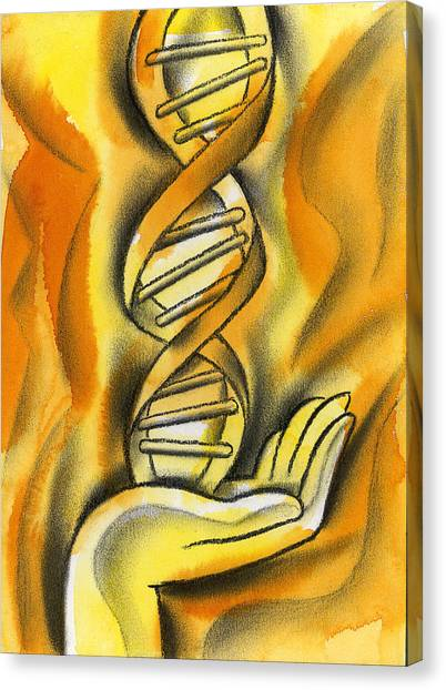 Genetics Canvas Print - Research by Leon Zernitsky