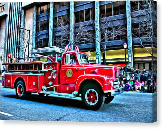 Macys Parade Canvas Print - Reserve Engine Eleven by Alice Gipson
