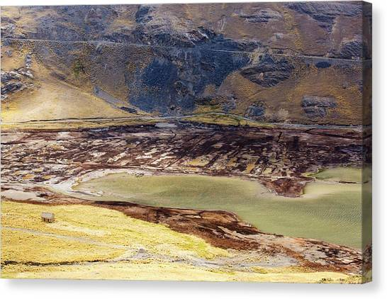 Bolivian Canvas Print - Reservoir Fed By Glacial Meltwater by Ashley Cooper/science Photo Library