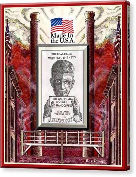 Reshoring The American Dream Canvas Print