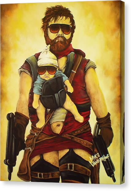 Resident Evil Canvas Print - Resident Hangover Extinction by Mike Vanderhoof