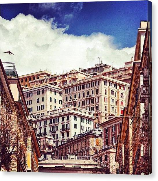 Case Canvas Print - Residential #genoa by Paolo Margari