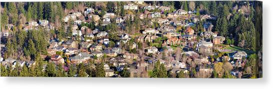 Pacific Division Canvas Print - Residential Homes In North American Suburbs by Jit Lim