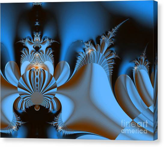 Resignation And Reality Abstract Digital Art Canvas Print