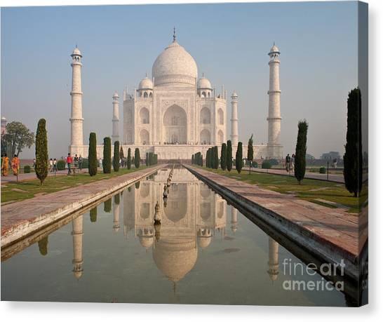Hinduism Canvas Print - Resplendent Taj Mahal by Mike Reid