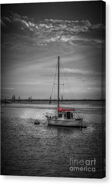 Calm Down Canvas Print - Rest Day B/w by Marvin Spates